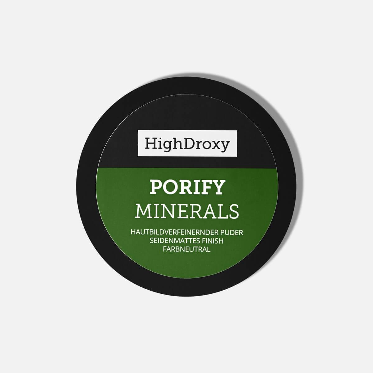 Highdroxy Porify Minerals Nahaufnahme